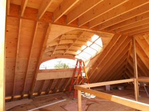 Eyebrow Dormer in New Home Project